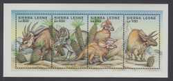Sierra Leone, Prehistoric animals, 1995, 4stamps