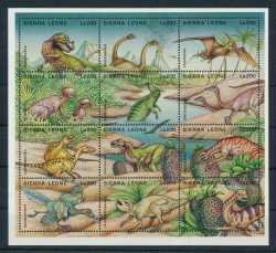Sierra Leone, Prehistoric animals, 1995, 12stamps