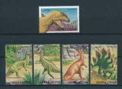 Sierra Leone, Prehistoric animals, 1998, 5stamps