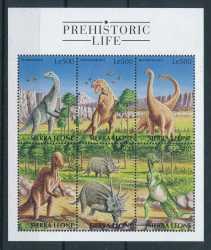 Sierra Leone, Prehistoric animals, 1998, 6stamps