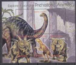 Sierra Leone, Prehistoric animals, 2004, 4stamps
