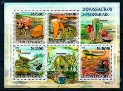 Sao Tome and Principe, Prehistoric animals, 2009, 4stamps