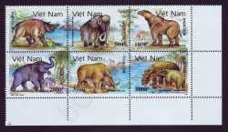 Vietnam, Prehistoric animals, 1991, 6stamps