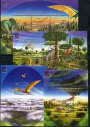 Central African Republic, Prehistoric animals, 2001, 14stamps