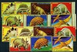 Equatorial Guinea, Prehistoric animals, 1978, 14 stamps