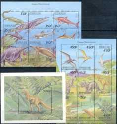 Guinea, Prehistoric animals, 1999, 19stamps