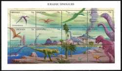 Grenada, Prehistoric animals, 1994, 12 stamps