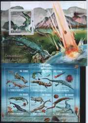 Sao Tome and Principe, Prehistoric animals, 2010, 7stamps