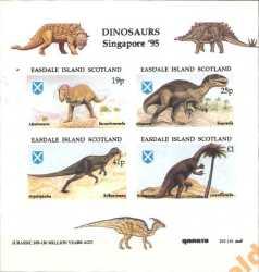 Scotland, Prehistoric animals, 4stamps (imperf.)