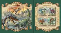 Mozambique, Prehistoric animals, 2018, 5stamps