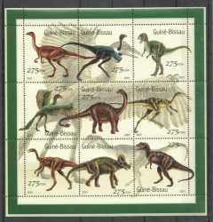 Guinea-Bissau, Prehistoric animals, 2001, 9stamps