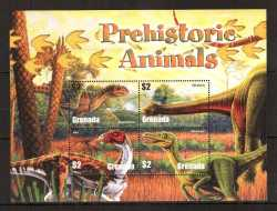 Grenada, Prehistoric animals, 2005, 4 stamps
