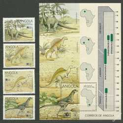 Angola, Prehistoric animals, 1994, 5 stamps