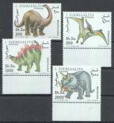 Somalia, Prehistoric animals, 1993, 4 stamps