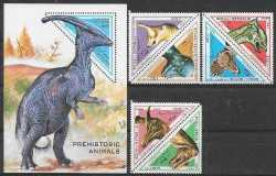 Somalia, Prehistoric animals, 1997, 7 stamps