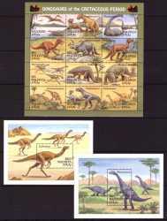 Maldives, Prehistoric animals, 14stamps