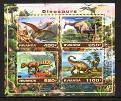 Rwanda, Prehistoric animals, 2017, 4stamps