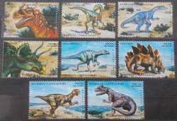 Madagascar, Prehistoric animals, 8stamps