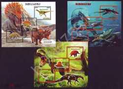 Guinea, Prehistoric animals, 2016, 9stamps (imperf.)