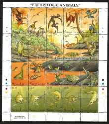 Sierra Leone, Prehistoric animals, 1992, 20stamps