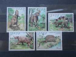 Western Sahara, Prehistoric animals, 5stamps