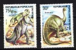 Prehistoric animals, Benin, 1984, 2stamps