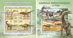 Niger, Prehistoric animals, 5 stamps