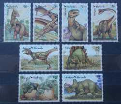 Antigua and Barbuda, Prehistoric animals, 8stamps