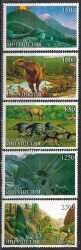 Ingushetia, Prehistoric animals, 5stamps