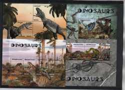 Ghana, Prehistoric animals, 2014, 12stamps