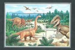North Korea, Prehistoric animals, 2000, 6 stamps