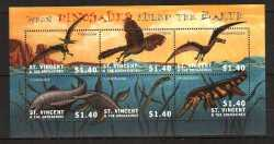 Saint Vincent and the Grenadines, Prehistoric animals, 2002, 6stamps