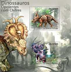 Sao Tome and Principe, Prehistoric animals, 2011, 2stamps