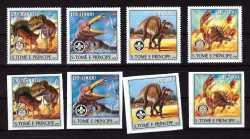 Sao Tome and Principe, Prehistoric animals, 2004, 8stamps