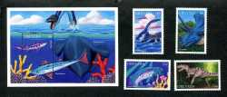 Grenada, Prehistoric animals, 5 stamps