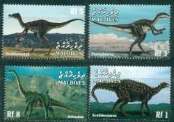 Maldives, Prehistoric animals, 1999, 4stamps