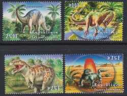 Central African Republic, Prehistoric animals, 2001, 4stamps