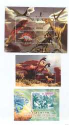 Dominica, Prehistoric animals, 6stamps