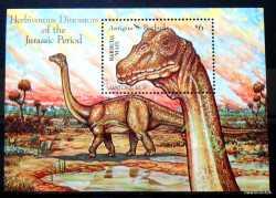 Antigua and Barbuda, Prehistoric animals, 1992, 1stamp